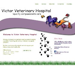 Web Design and Development for Victor Valley Vet Hospital